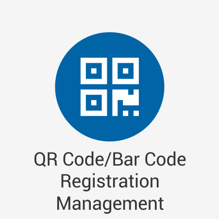 QR Code/Bar Code Registration Management