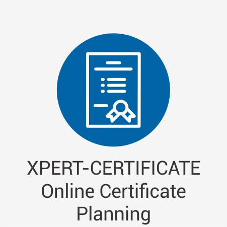XPERT-CERTIFICATE Online Certificate Planning
