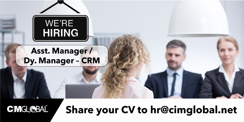 Asst. Manager / Dy. Manager - CRM - Based in Gurgaon