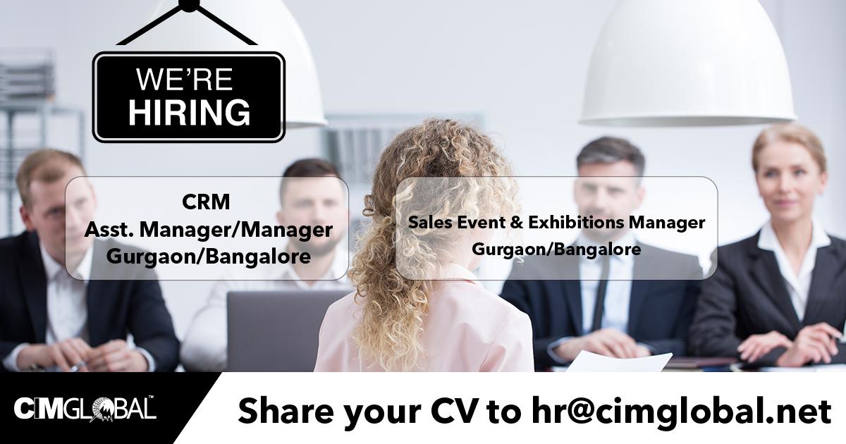 Association Management - Based in Bangalore & Gurgaon